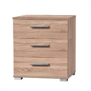 Douglas Bedside Cabinet In Sonoma Oak With 3 Drawers