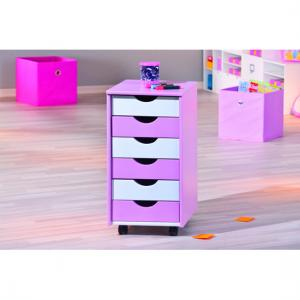 Pierre Chest of Drawers In Pink And White