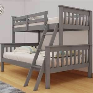 Dux Wooden Single And Double Bunk Bed In Grey