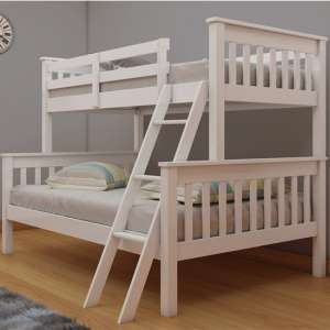 Dux Wooden Single And Double Bunk Bed In White