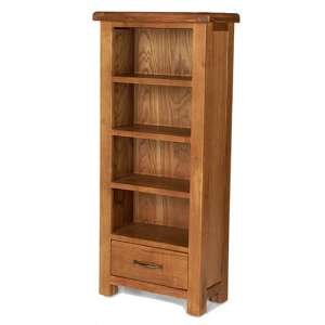 Earls Wooden DVD Storage Stand In Chunky Solid Oak