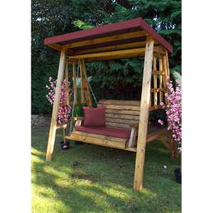Ecaso Dorset 2 Seater Swing In Burgundy