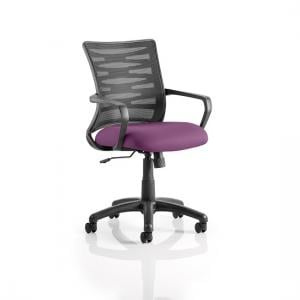 Eclipse Home Office Chair In Purple With Castors