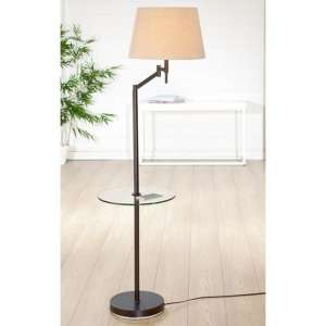 Elastico Floor Lamp In Brown And Beige With Glass Stand