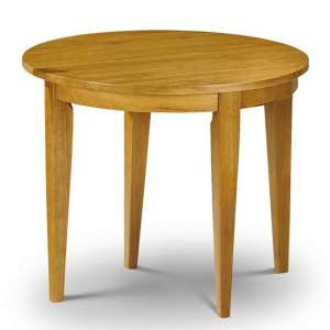 Elbeni Round Extending Dining Table In Honey Pine Lacquer