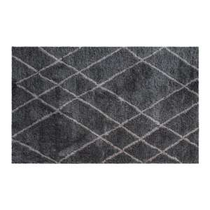 Elena Small Fabric Upholstered Rug In Grey