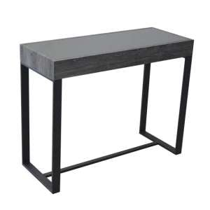 Ellis Glass Console Table With Natural Black Legs