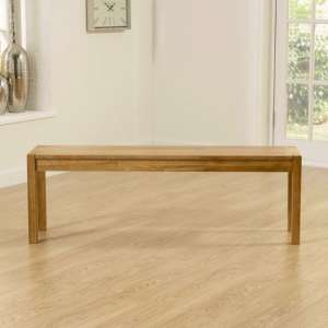 Elnath Large Dining Bench In Solid Oak