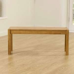 Elnath Medium Dining Bench In Solid Oak