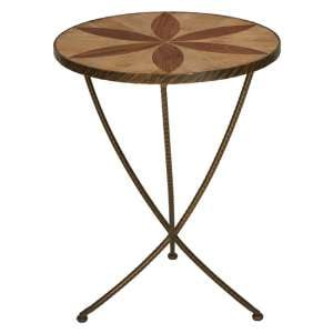 Eltro Large Wooden Side Table In Brown
