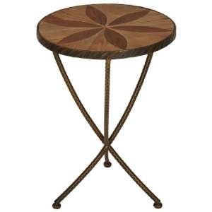 Eltro Small Wooden Side Table In Brown