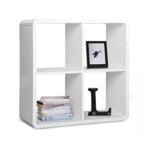 Emerson Cube Display Unit Square In White High Gloss