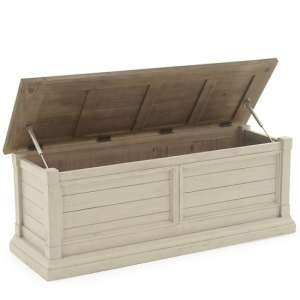Emery Wooden Blanket Box In Antique White