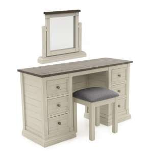 Emery Wooden Dressing Table Set In Antique White