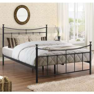 Emily Steel Single Bed In Black
