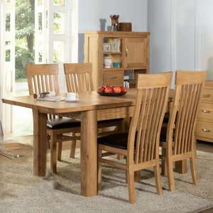 Empire Medium Extending Dining Set With 4 Chairs In Oak