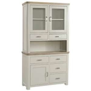 Empire Small Painted Display Cabinet With 3 Doors And 6 Drawers