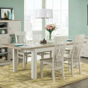 Empire Stone Painted Medium Dining Set With 4 Dining Chairs