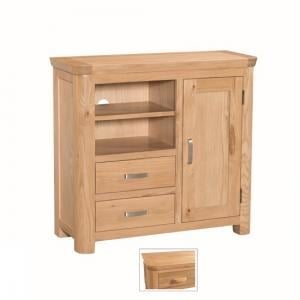 Empire Wooden TV Sideboard With 1 Door And 2 Drawers