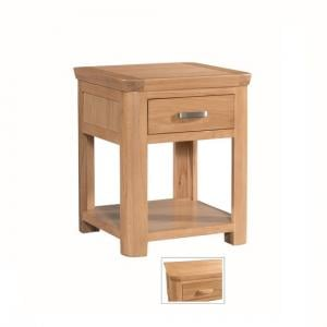 Empire Square Wooden End Table With 1 Drawer