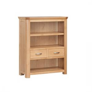 Empire Wooden Low Bookcase With 2 Drawers