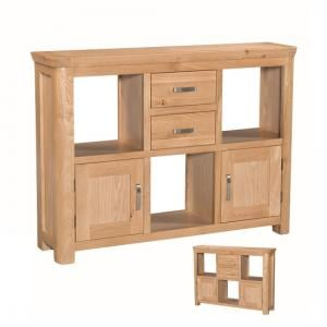 Empire Wooden Low Display Unit With 2 Doors