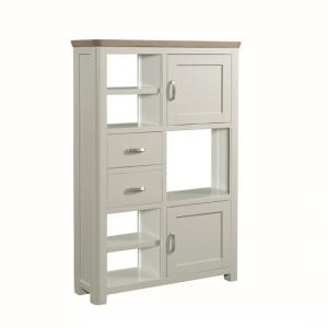 Empire Wooden High Display Unit In Stone Painted