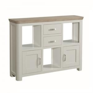 Empire Wooden Low Display Unit In Stone Painted
