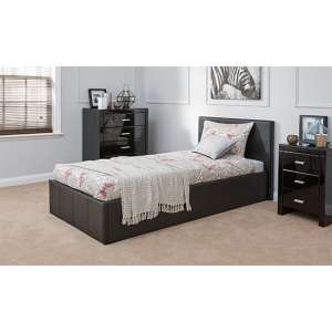 End Lift Ottoman Single Bed In Black