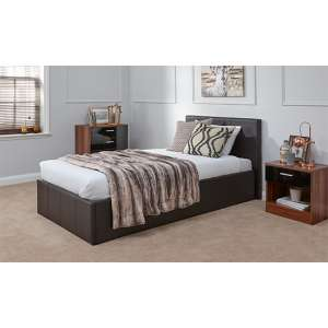 End Lift Ottoman Single Bed In Brown
