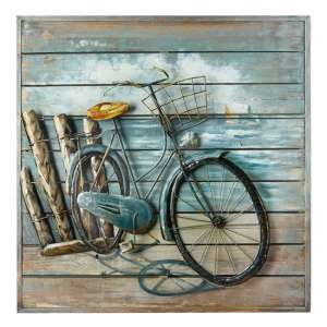 Enjoy The Ride Picture Metal Wall Art In Multicolor