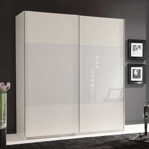 Enter Sliding Door Wooden Wardrobe In White