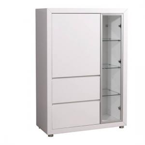 Fino Entertainment Cabinet In Gloss White With 2 Doors
