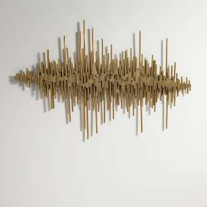 Ernest Contemporary Wall Art In Gold Finish
