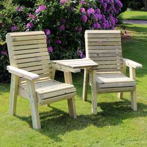 Erog Wooden Outdoor Chairs Seating Set