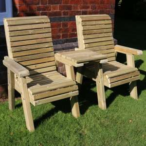Erog Wooden Straight Outdoor Chairs Seating Set