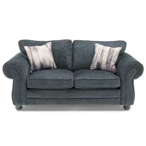 Esprit Fabric 2 Seater Sofa In Charcoal With Wooden Legs