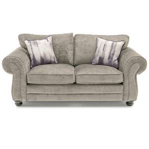 Esprit Fabric 2 Seater Sofa In Mink With Wooden Legs