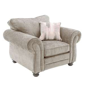 Esprit Fabric Sofa Chair In Mink With Wooden Legs