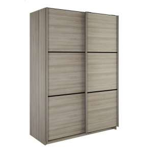 Estelle Wooden Sliding Wardrobe In Shannon Oak With 2 Doors