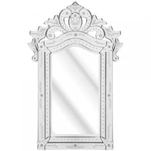 Solitaire Etched Wall Mirror