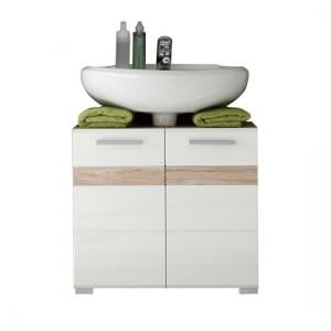 Eterno Vanity Cabinet In Oak And White High Gloss