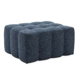 Etta Fabric Upholstered Ottoman In Blue