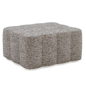 Etta Fabric Upholstered Ottoman In Grey