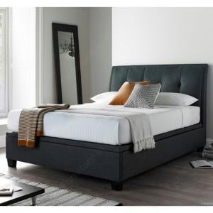 Evelyn Fabric Ottoman Storage Super King Size Bed In Slate