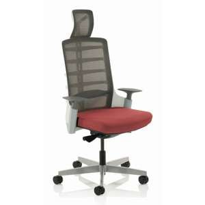 Exo Charcoal Grey Back Office Chair With Ginseng Chilli Seat