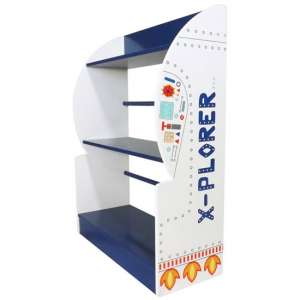 Explorer Kids Bookcase In Blue And White