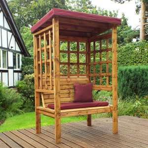 Fela Bramham 2 Seater Arbour In Burgundy
