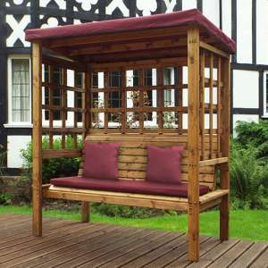Fela Bramham 3 Seater Arbour In Burgundy