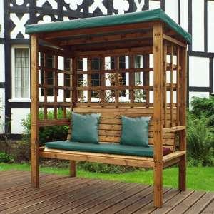 Fela Bramham 3 Seater Arbour In Green